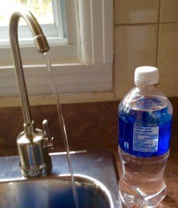 BOTTLED WATER VERSUS HOME FILTER SYSTEM