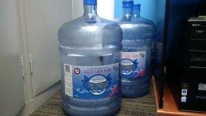 Stored water bottles